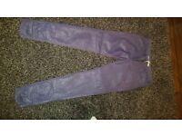 all saints purple trousers