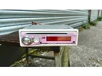 Car CD player, mp3 player (pink)