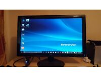 AOC 2436SWA 24 inch widescreen LED PC Monitor flat screen TFT, speakers, power and VGA cable