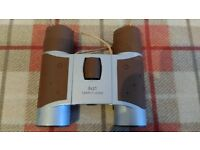 BROWN FOLD-UP BINOCULARS WITH CASE