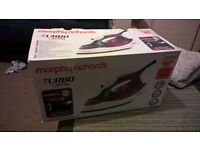 nearly new morphy richards turbo steam iron