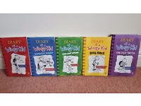 Full set of Diary of a Wimpy Kid including one hardback