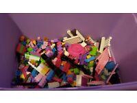 Pink girls lego 4+ micro bloks