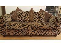 2/3 seater sofa. Tiger print