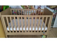 Mamas & Papas Rialto+ Cot/Toddler Bed - Natural Oak