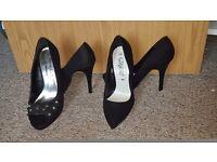 2 pairs size 3 heels