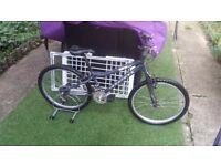 "Ridgeback MX24 grey Mountain Bike gears 21 speeds/ wheels 24"" junior bike"