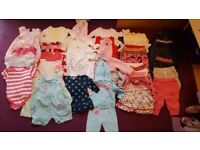 Girl baby bundle of clothes 0-12