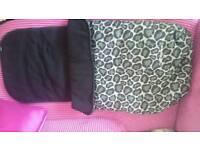 Mothercare leopard print footmuff
