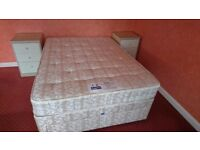 Slumberland Double Bed + Slumberland Pearl Mattress VGC