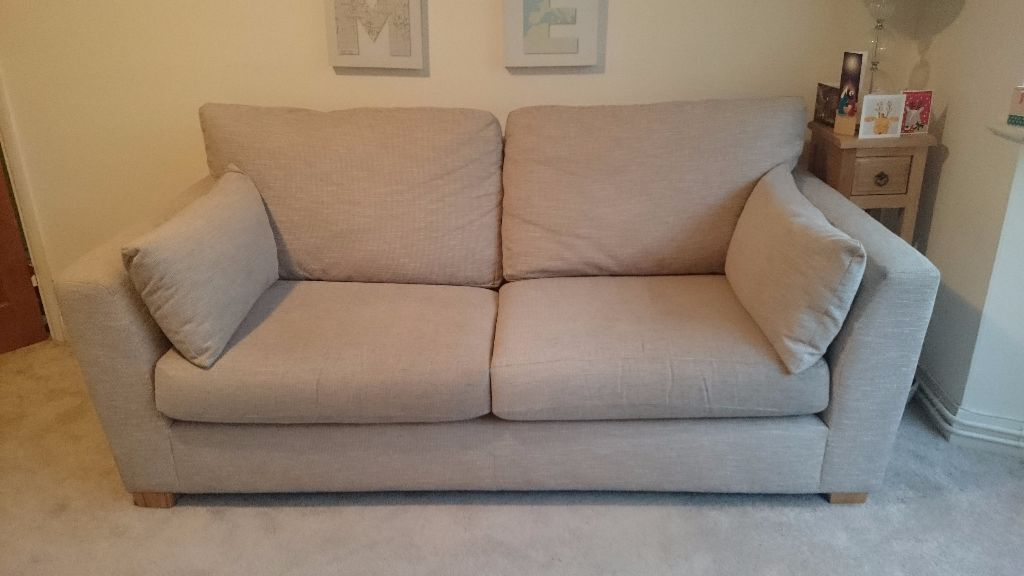 Furniture Village Dune Fabric Seater Classic Back Sofa In