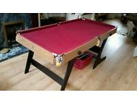 6x3 fold able pool table
