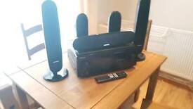 Pioneer vsx 323k av system and 5x speakers and Cambridge Audio Active Subwoofer