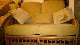 Cane furniture - 3 piece suite