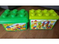 LEGO DUPLO My First Deluxe Box of Fun 10580 and 5352 Building Toy 230 pieces Brick