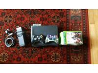 Xbox 360, 2 controllers (1 halo 3 limited edition), 10 games