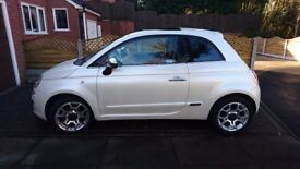 Fiat 500 lounge 1.3 multijet, red leather interior