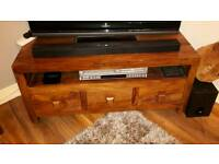 Indian wooden tv cabinet with drawers