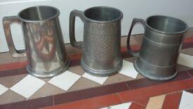 TANKARDS Pewter mugs