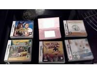 PINK DS LITE + 5 GAMES