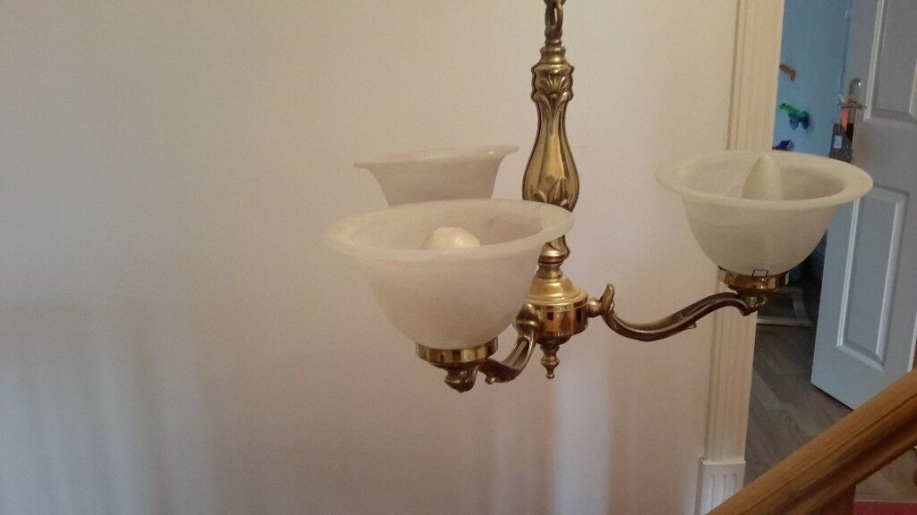 2 x gold coloured ceiling lights with matching wall lights in 2 x gold coloured ceiling lights with matching wall lights aloadofball Choice Image