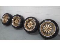 """Work VSXX three piece wheels 18"""" x 9.5J with +32 ET"""