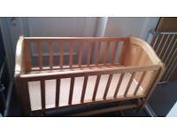 Mothercare rocking crib.