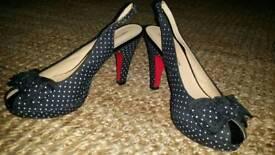 Polka-dot shoes