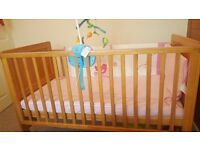 Babylo Cot with mattress,bed sheet and bed toy