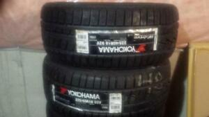 TWO TIRES NOT FOUR BRAND NEW WITH LABELS ULTRA HIGH PERFORMANCE YOKOHAMA ' W ' DRIVE ' V ' RATED 225- 40-18 WINTER TIRE