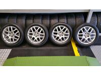 VW Genuine 16 BBS Montreal alloy wheels + 4 x tyres 205 55 16