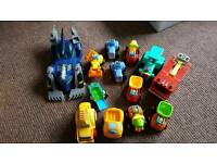 Toy tractors and vehicles