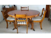 Yew Dining Table & Chairs