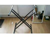 Tiger Double Braced X Frame Keyboard Stand