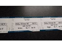 3 Beth Hart tickets Monday 30th October Leeds Town Hall 8pm gallery row A seats 25 26 27