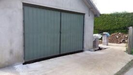 Double metal garage doors for sale