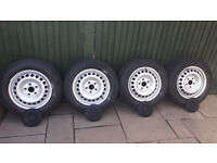 Genuine VW Transporter T5 T5.1 T6 wheels with tyres and hub covers