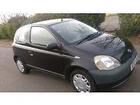 Toyota YARIS IN BLACK 2002 £575 Tel 07405743617