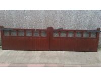 Wooden Drive Gates - 13ft 8in wide