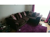 Corner sofa + swivel chair
