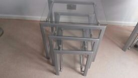 Glass Top Nest of Tables