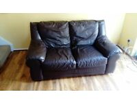 J H Hicolity beautiful Dark chockolate 2 seater sofa