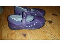 girls Clarks shoes size 41/2 F
