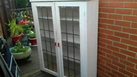 Nice glass pained cabinet for upcycle project