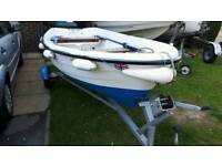 Lovely 12ft dinghy boat and trailer.