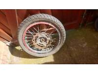 MotorBike front wheel lexmoto sinnis dna