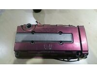 Honda Civic B16 B18 Vtec Rocker Cover PURPLE GOOD CONDITION
