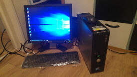 "DELL OPTIPLEX 780 FULL PC SET WITH 17"" DELL MONITOR."