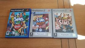 3 sims games for ps2