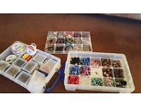 Exciting stash of mixed beads and beading accessories